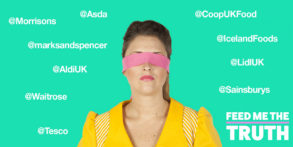 Feed me the Truth campaign image with supermarket twitter handles